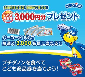 子ども商品券3,000円分プレゼントキャンペーン