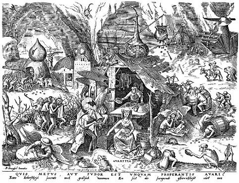 ブリューゲル「七つの大罪」より「貪欲」