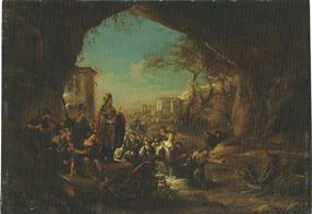 ヤコブ・ウィレムス・デ・ウェット1世「バビロン王の前で竜を殺すダニエル」