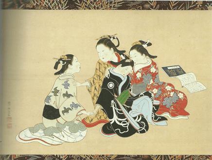西川祐信「若衆寵愛圖」