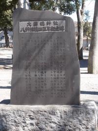 大國魂神社八朔相撲四百年記念碑